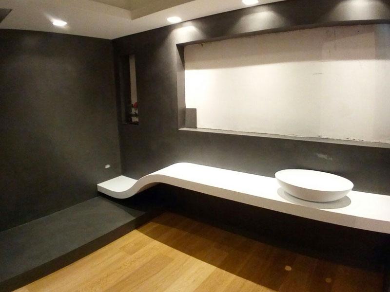Microcemento utilizzato in bagno