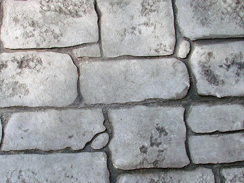 Dettaglio di finitura in cemento stampato