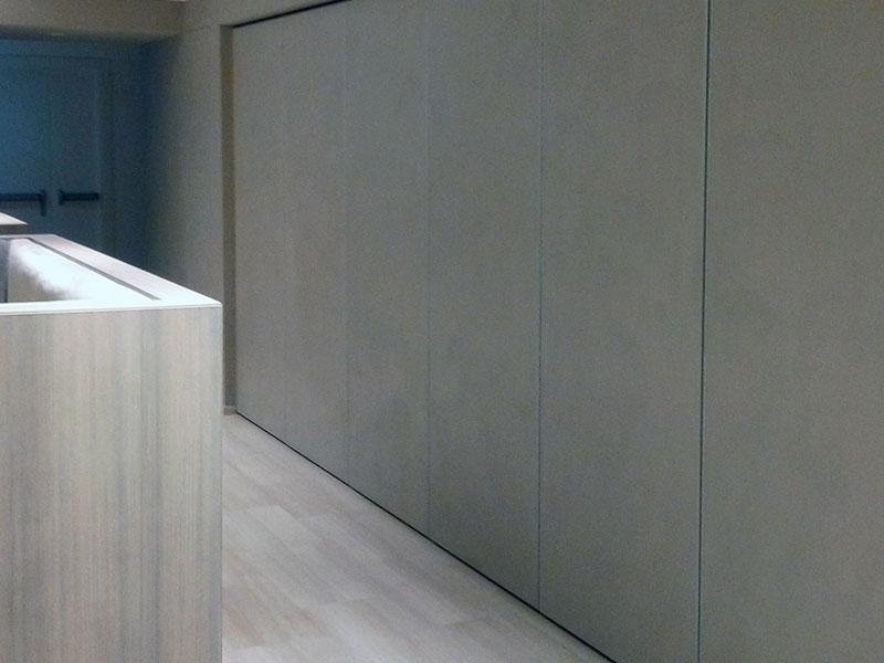Microcemento usato su superfici verticali