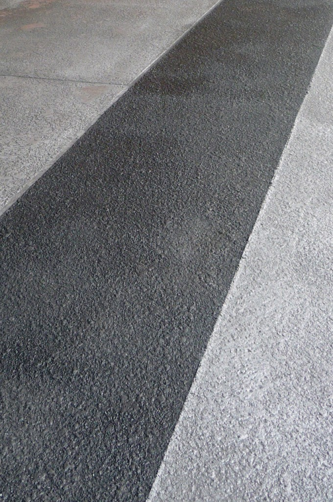 Particolare del cemento spray